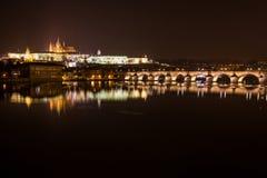 Άποψη βραδιού της Πράγας. Δημοκρατία της Τσεχίας Στοκ εικόνα με δικαίωμα ελεύθερης χρήσης