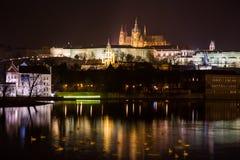 Άποψη βραδιού της Πράγας. Δημοκρατία της Τσεχίας Στοκ εικόνες με δικαίωμα ελεύθερης χρήσης