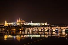 Άποψη βραδιού της Πράγας. Δημοκρατία της Τσεχίας Στοκ φωτογραφία με δικαίωμα ελεύθερης χρήσης