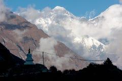 Άποψη βραδιού του όρους Everest στοκ φωτογραφίες