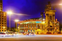 Άποψη βραδιού Plaza de Espana Στοκ φωτογραφία με δικαίωμα ελεύθερης χρήσης