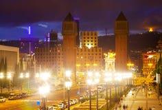 Άποψη βραδιού Plaza de Espana Στοκ εικόνες με δικαίωμα ελεύθερης χρήσης
