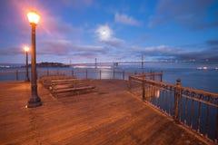 Άποψη γεφυρών κόλπων από την αποβάθρα 7, άποψη Καλιφόρνιας από την αποβάθρα 7, Califo Στοκ φωτογραφίες με δικαίωμα ελεύθερης χρήσης