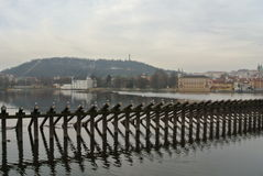 Άποψη γεφυρών του Charles Στοκ εικόνες με δικαίωμα ελεύθερης χρήσης