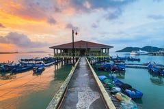 Άποψη γεφυρών Penang από την ακτή της πόλης του George, Μαλαισία Στοκ εικόνα με δικαίωμα ελεύθερης χρήσης