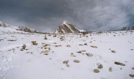 Άποψη για να ολοκληρώσει το βουνό, τρόπος στο στρατόπεδο βάσεων Everest στοκ φωτογραφίες με δικαίωμα ελεύθερης χρήσης