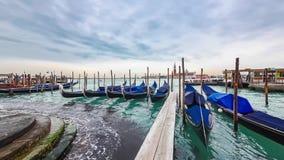 Άποψη γονδολών timelapse στη Βενετία, Ιταλία απόθεμα βίντεο