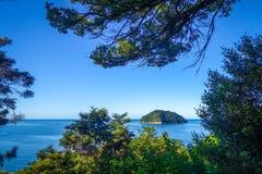 Άποψη διαδρομής στο εθνικό πάρκο του Abel Tasman, Νέα Ζηλανδία Στοκ Φωτογραφία