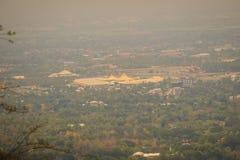 Άποψη εικονικής παράστασης πόλης της Mai Chiang από την άποψη λόφων Doi Suthep Εσείς γ Στοκ Φωτογραφίες