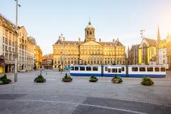 Άποψη εικονικής παράστασης πόλης του Άμστερνταμ Στοκ φωτογραφίες με δικαίωμα ελεύθερης χρήσης