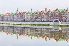 Άποψη εικονικής παράστασης πόλης πανοράματος υποβάθρου Yoshkar-Ola Στοκ φωτογραφία με δικαίωμα ελεύθερης χρήσης