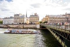 Άποψη εικονικής παράστασης πόλης στο Παρίσι Στοκ εικόνες με δικαίωμα ελεύθερης χρήσης