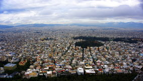 Άποψη εικονικής παράστασης πόλης της Αθήνας Στοκ φωτογραφία με δικαίωμα ελεύθερης χρήσης