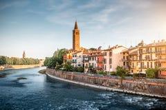 Άποψη εικονικής παράστασης πόλης της Βερόνα στοκ φωτογραφία