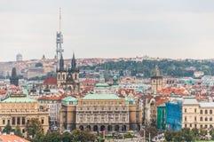 Άποψη εικονικής παράστασης πόλης της Πράγας Στοκ εικόνα με δικαίωμα ελεύθερης χρήσης