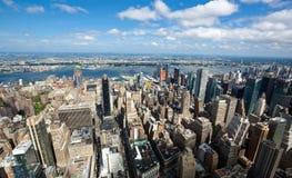Άποψη εικονικής παράστασης πόλης του Μανχάταν, πόλη της Νέας Υόρκης Στοκ Εικόνες