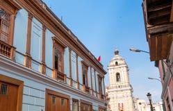 Άποψη εκκλησιών SAN Σαν Φρανσίσκο του της Λίμα Περού Στοκ φωτογραφίες με δικαίωμα ελεύθερης χρήσης