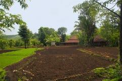 Άποψη ενός αγροτικού σπιτιού σε konkan, Maharashtra Στοκ Φωτογραφία