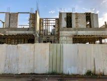 Άποψη ενός εργοτάξιου οικοδομής ενός νέου κτηρίου στην πόλη Rishon LE Zion, Ισραήλ Στοκ Εικόνες