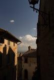 Άποψη ενός χαρακτηριστικού παλαιού ιταλικού χωριού Στοκ εικόνες με δικαίωμα ελεύθερης χρήσης