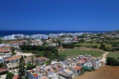 Άποψη ενός χωριού κοντά σε Protaras, Κύπρος Στοκ Εικόνες
