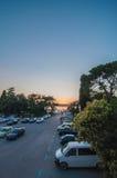 Άποψη ενός χώρου στάθμευσης κοντά σε Colosseum στην Κροατία Στοκ Εικόνες
