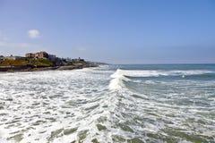 Άποψη ενός ωκεάνιου κύματος Point Loma Καλιφόρνια. Στοκ Εικόνες