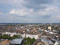 Άποψη επάνω από το Μάαστριχτ Στοκ Εικόνα
