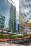 Άποψη επιχειρησιακών κέντρων Canary Wharf, Λονδίνο Στοκ Εικόνες