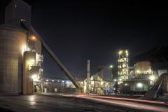 Άποψη λεπτομέρειας εργοστασίων τσιμέντου Στοκ Εικόνες