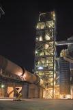 Άποψη λεπτομέρειας εργοστασίων τσιμέντου Στοκ Φωτογραφία