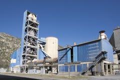 Άποψη λεπτομέρειας εργοστασίων τσιμέντου Στοκ Φωτογραφίες