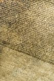 Άποψη λεπτομέρειας Rosetta Stone Στοκ Εικόνες