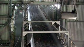 Άποψη εργοστασίου επεξεργασίας μεταλλείας μέσα απόθεμα βίντεο