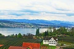 Άποψη Ελβετία της Ζυρίχης λιμνών Στοκ Εικόνες