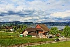 Άποψη Ελβετία της Ζυρίχης λιμνών Στοκ Φωτογραφία