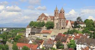 Άποψη ζουμ έξω Breisach, Γερμανία απόθεμα βίντεο