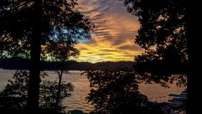Άποψη ηλιοβασιλέματος Arrowhead λιμνών, Καλιφόρνια Στοκ εικόνες με δικαίωμα ελεύθερης χρήσης