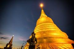 Άποψη ηλιοβασιλέματος Wat Saket στη Μπανγκόκ Ταϊλάνδη Στοκ Εικόνες