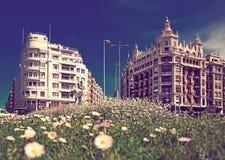 Άποψη ημέρας της οδού στο San Sebastian Τετράγωνο Euskadi Στοκ φωτογραφίες με δικαίωμα ελεύθερης χρήσης