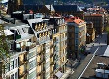 Άποψη ημέρας της οδού στο San Sebastian Στοκ Εικόνες