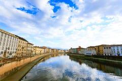 Άποψη ημέρας της Πίζας, Τοσκάνη, Ιταλία στοκ φωτογραφία με δικαίωμα ελεύθερης χρήσης