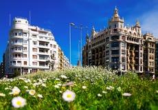 Άποψη ημέρας της πλατείας Euskadi στο San Sebastian Στοκ εικόνα με δικαίωμα ελεύθερης χρήσης