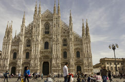 Άποψη ημέρας του καθεδρικού ναού Duomo Piazza del Duomo στην πλατεία Στοκ Φωτογραφίες