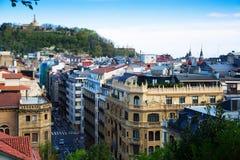 Άποψη ημέρας των οδών στο San Sebastian Στοκ Εικόνες