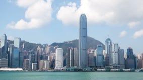 Άποψη ημέρας χρονικού σφάλματος από την αποβάθρα στο κεντρικό Χονγκ Κονγκ φιλμ μικρού μήκους