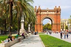Άποψη ημέρας Arc de Triomf στη Βαρκελώνη Στοκ φωτογραφία με δικαίωμα ελεύθερης χρήσης