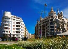 Άποψη ημέρας Euskadi τετραγωνικό Plaza στο San Sebastian Στοκ φωτογραφία με δικαίωμα ελεύθερης χρήσης