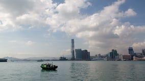 Άποψη ημέρας Hyperlapse από το Χονγκ Κονγκ αποβαθρών απόθεμα βίντεο