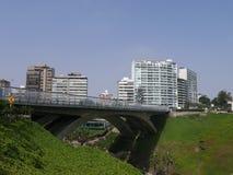 Άποψη ημέρας Villena της γέφυρας σε Miraflores, Λίμα Στοκ φωτογραφία με δικαίωμα ελεύθερης χρήσης